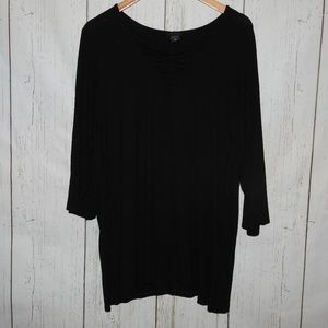 Torrid Black Ribbed Topt